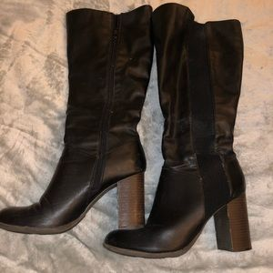 Fergalicious brown heeled boots size 10